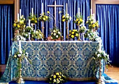 Beautifully Dressed Altar